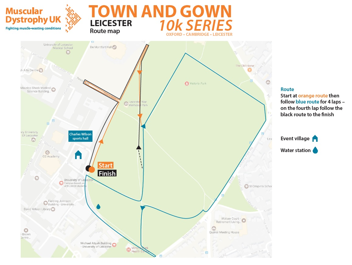 Leicester Town and Gown 2018 Route